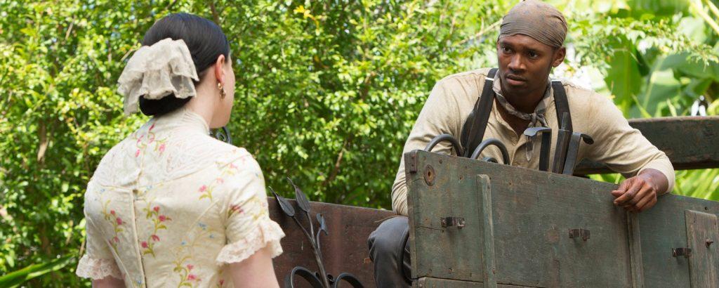 Threatt Jr. & Paquin as Tom Murray & Nancy Holt
